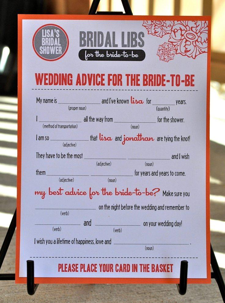 wedding shower games