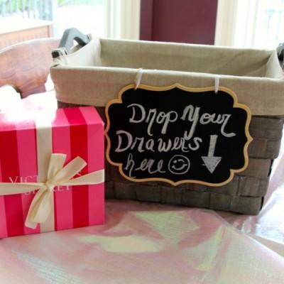 bridal shower lingerie gift