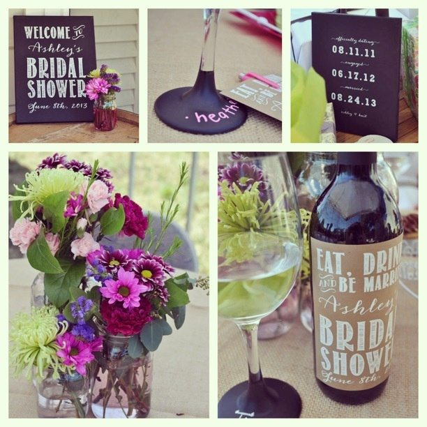 wine theme bridal shower