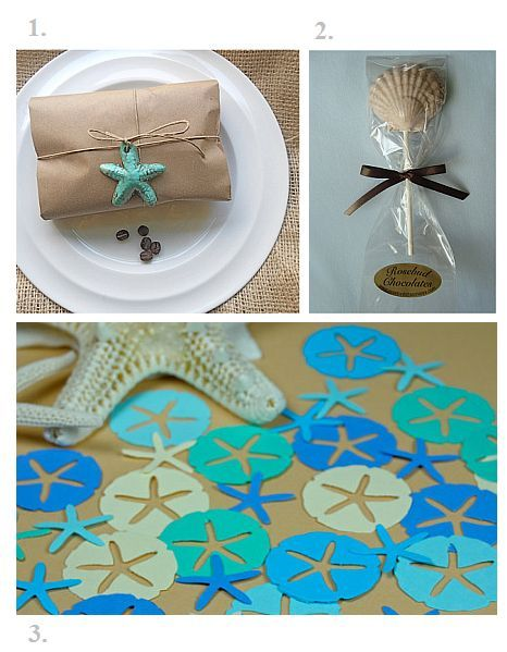 beach themed wedding favors