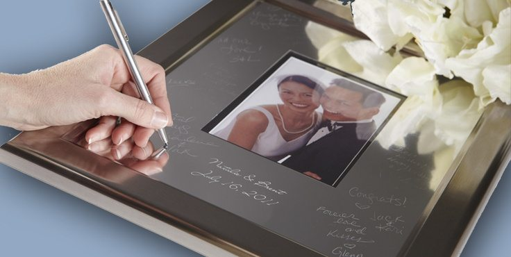 wedding guest book platters & trays