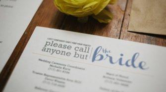 wedding day list