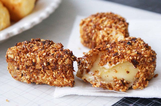 Hazelnut-Crusted Fried Brie from