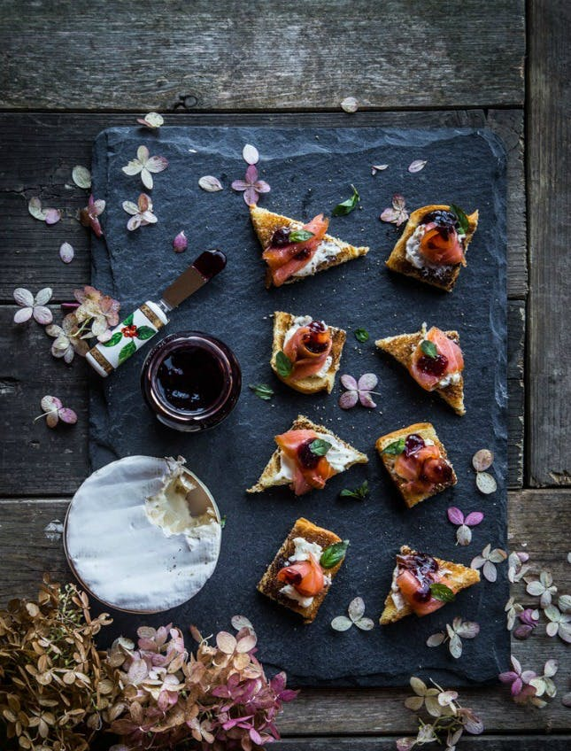 Smoke Salmon Canape from