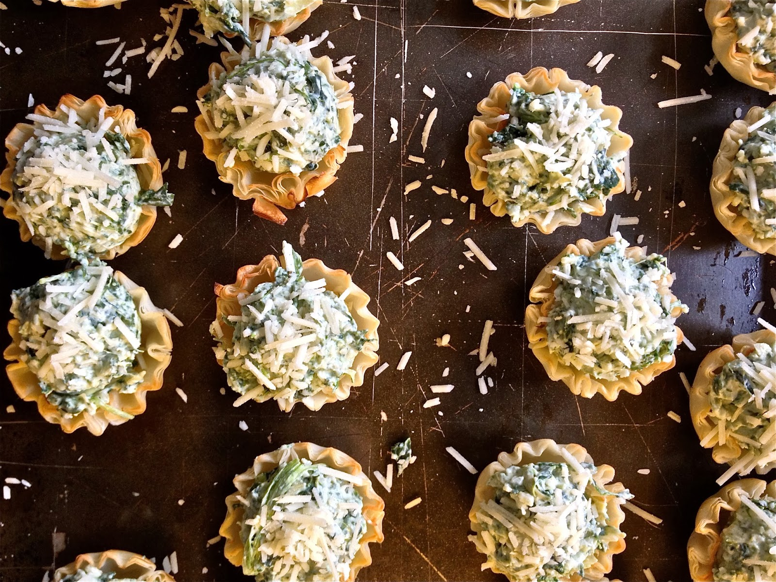 Spinach & Artichoke Canapes from