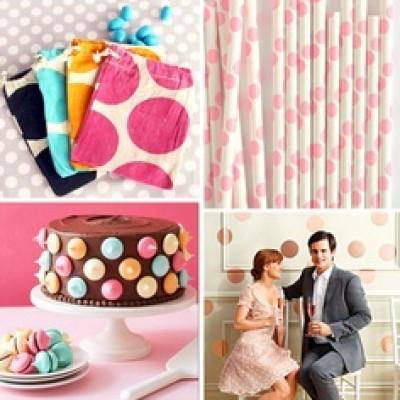 bridal shower polka dot theme