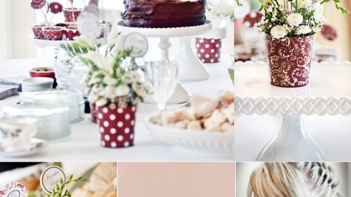 polka dot theme wedding shower