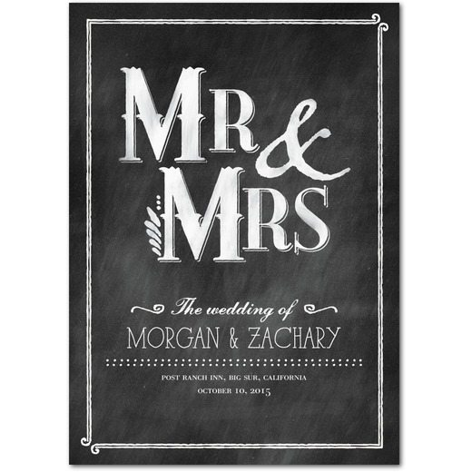 chalkboard wedding program vintage