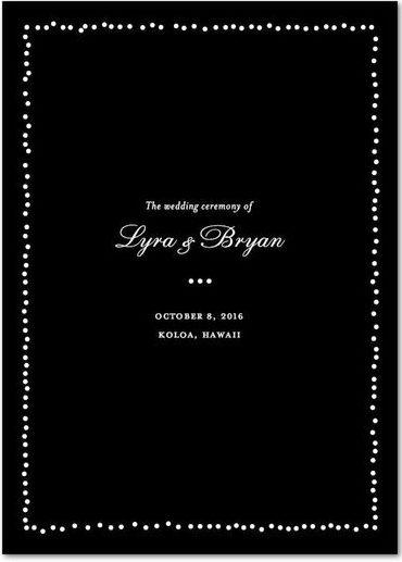 black wedding program
