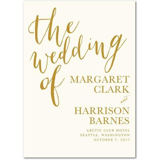 Gold Wedding Program Template