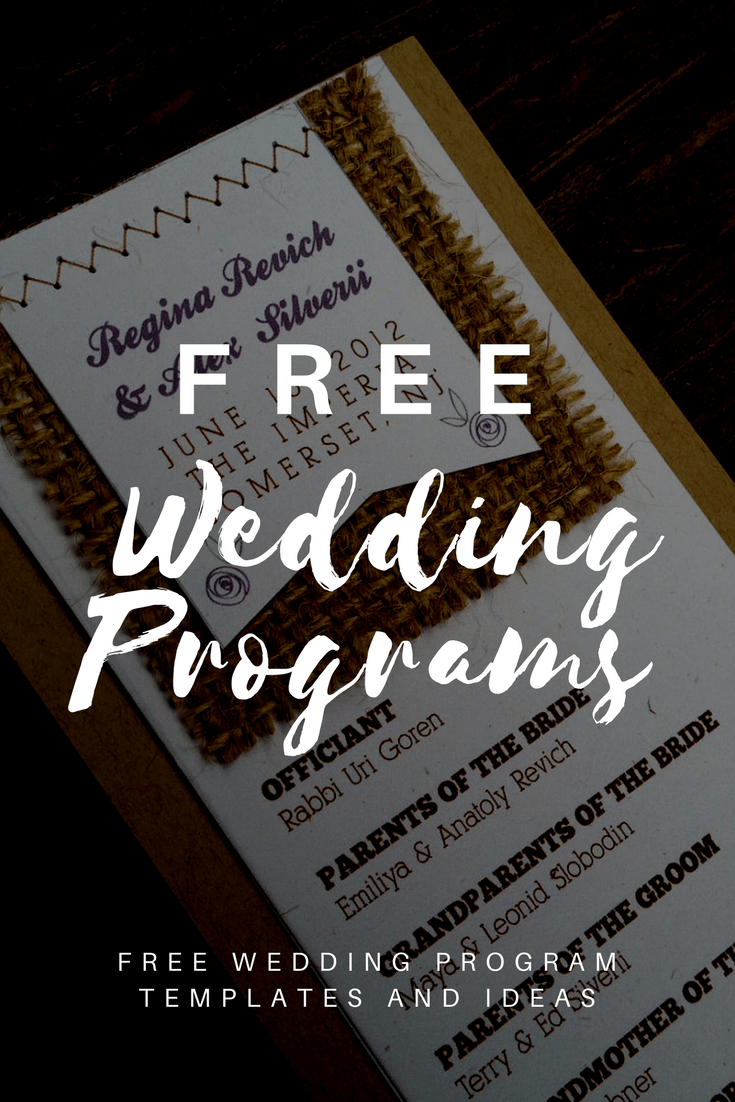 Free Wedding Program Templates | Wedding Program Ideas
