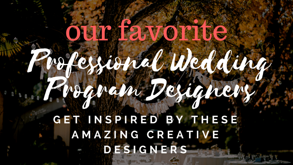 best wedding program designers