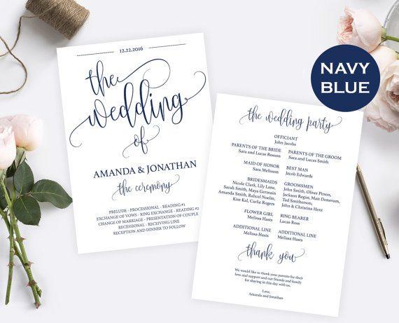 Navy Blue Wedding Decorations - Instant Download