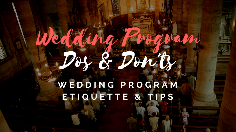 wedding program dos and donts