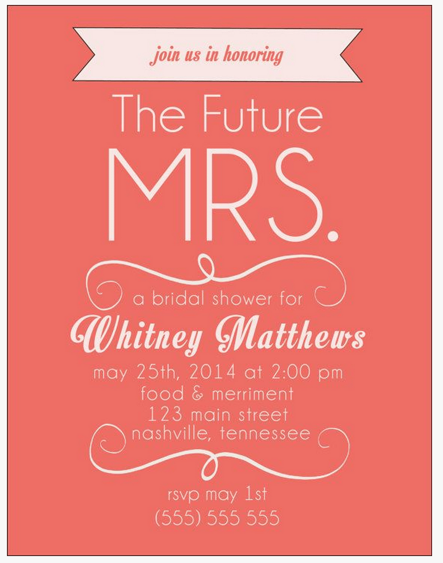 Free bridal shower invitations for Best bridal shower invitations