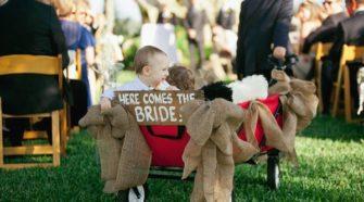 wagon for wedding