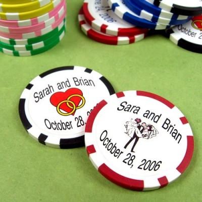 Custom Printed Wedding Poker Chips