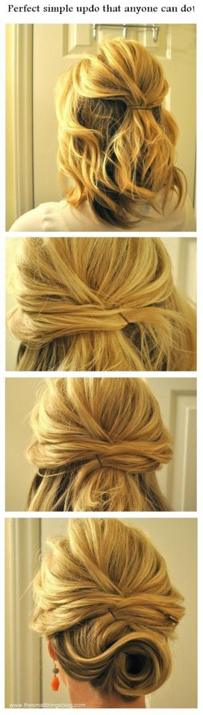 DIY wedding hairstyling