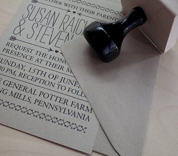 diy wedding invitations stamp