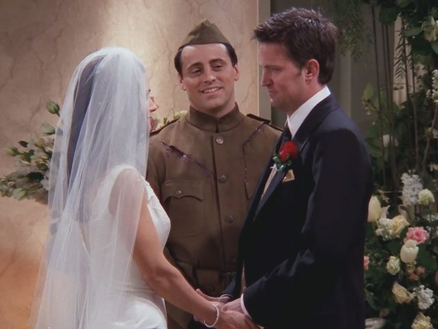 monica and chandler wedding