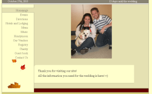 personal wedding site