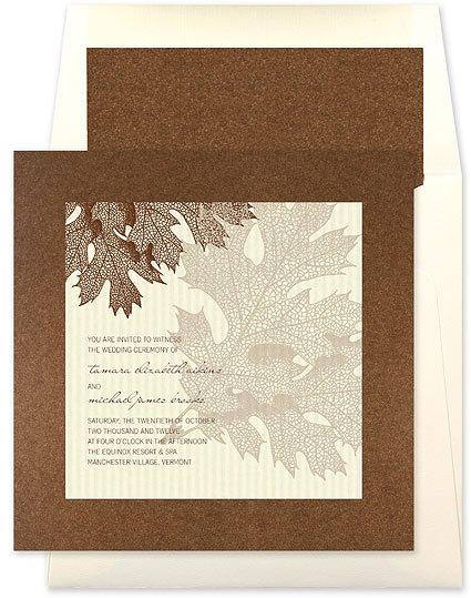 fall wedding invitations by checkerboard at elegant bridal invitations