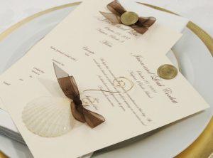 sea shell wedding favor