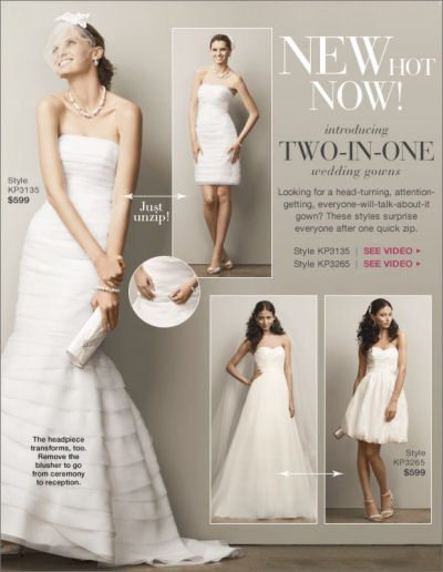Two-in-one wedding gown