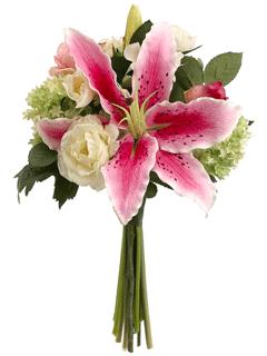 silk stargazer bridal bouquet