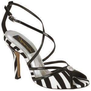 zebra stripe bridal shoes