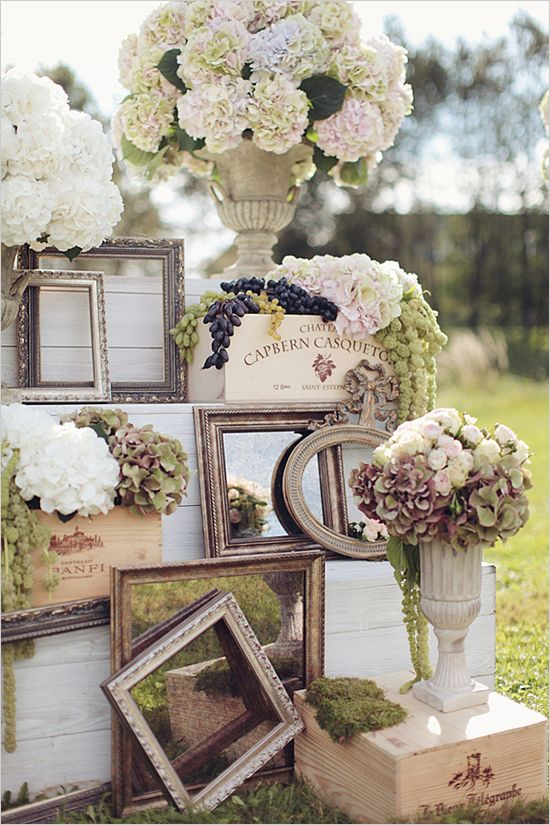 outdoor wedding flowers