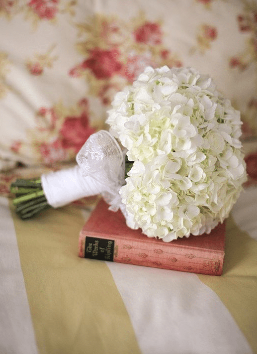 White Hydrangea Bride Bouquet