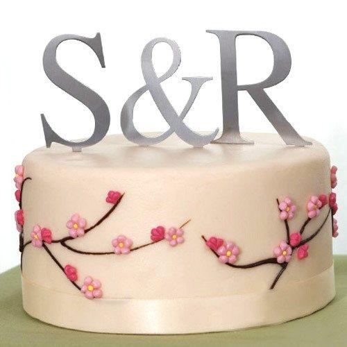 monogram cake top