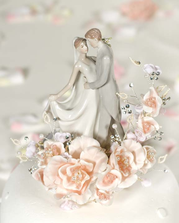 porcelain wedding cake top