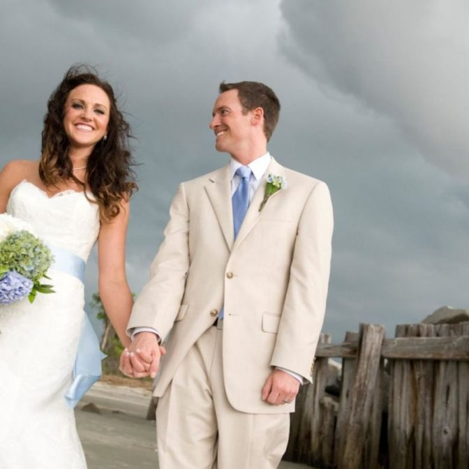 wedding in a storm