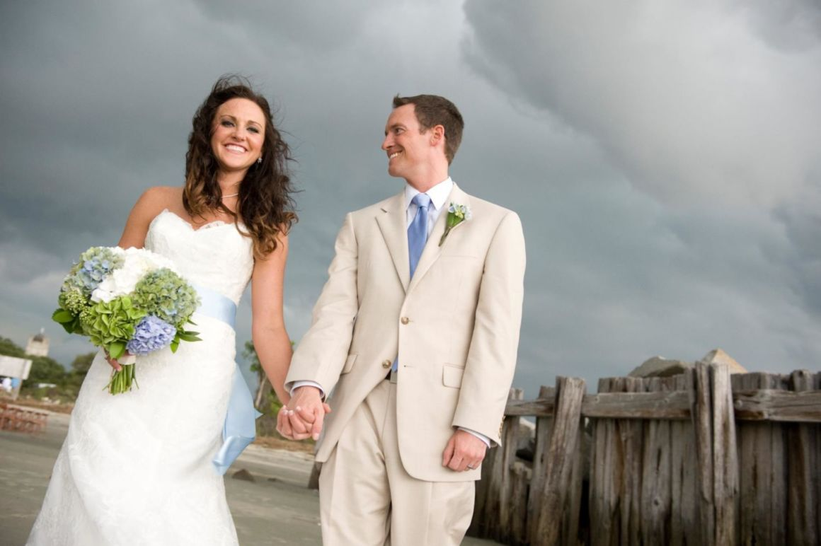 wedding in a storm