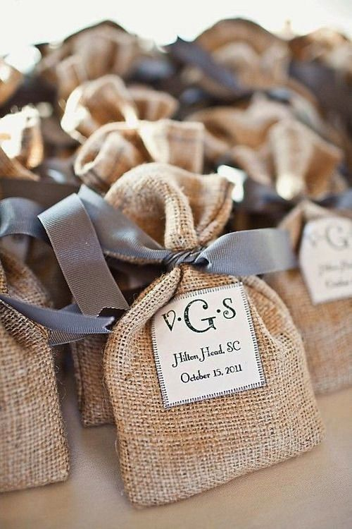 country wedding favors