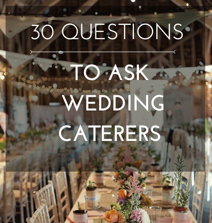 questions to ask wedding caterer