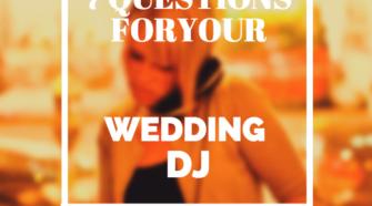 wedding dj questions