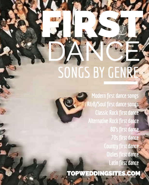 Wedding Songs First Dance.Top 5 First Dance Wedding Songs Listed By Genre The