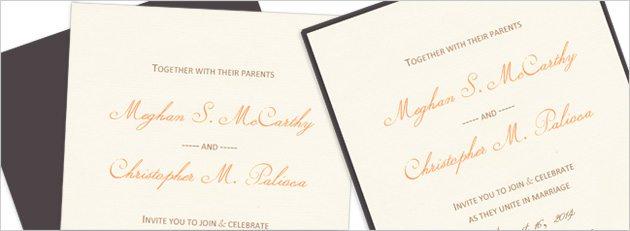 adhere invitation card to backer card