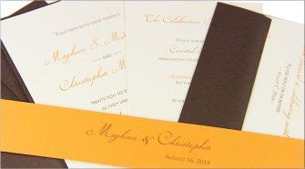 DIY orange and brown invitation suite