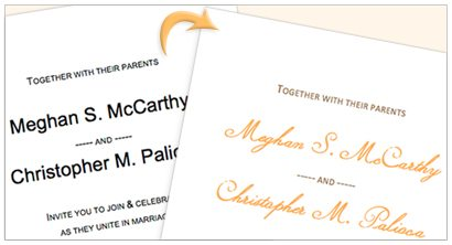customize invitation printing templates in Microsoft Word by changing fonts and colors