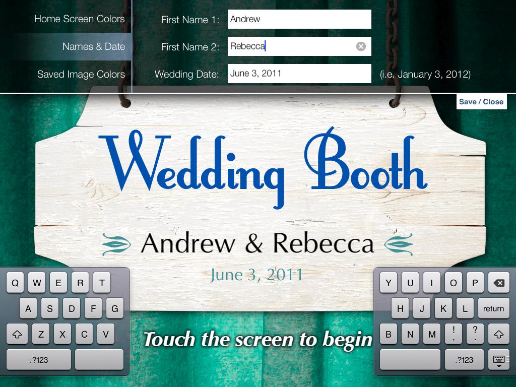 Wedding Photobooth Screenshot