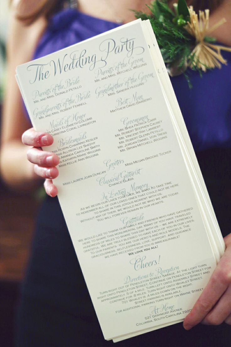 Do You Need A Wedding Ceremony Program? Spoiler Alert