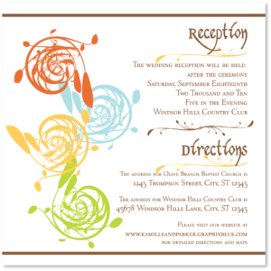 Elemental Direction/Reception Card from Aisle Say! Wedding Papers