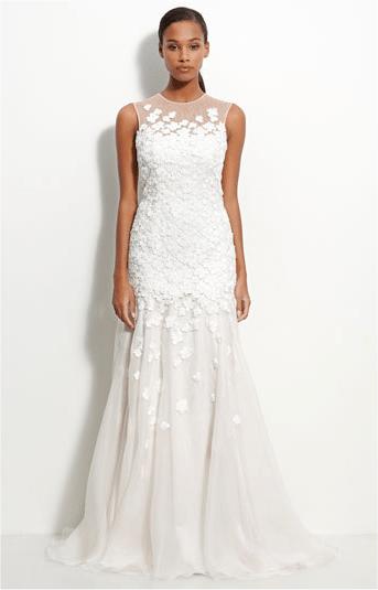 mermaid style wedding gown