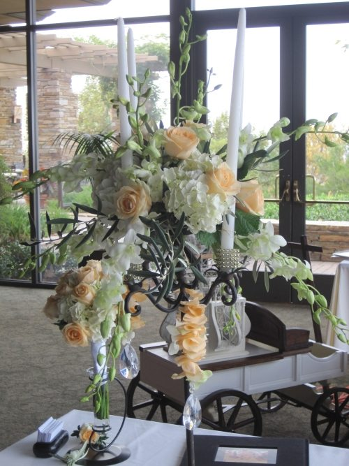 Wedding Centerpiece Using Taper Candles