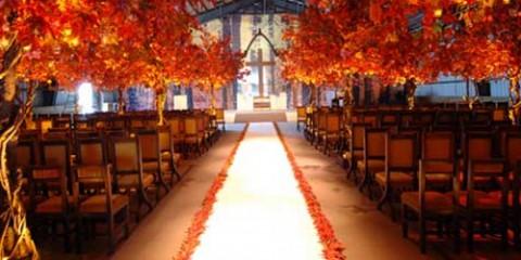 leaves aisle runner