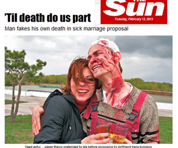 Bizarre Wedding Proposal